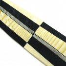 Mens Silk Necktie Abstract Modern Galo Cossinni Designer Tie Blue Gold Hand Sewn 58 Inch