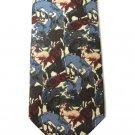 Mens Silk Tie Horse Theme MET Metropolitan Museum Of Art Designer Necktie Running Horses Equestrian