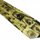 Civil War Commemorative Necktie Mens Silk Tie Soldiers Museum Artifacts Limited Edition Black Gold