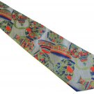 Oriental Theme Necktie Mens Silk Tie Thai Vase Pot Gray Green Blue Coral Designer Fashion 55