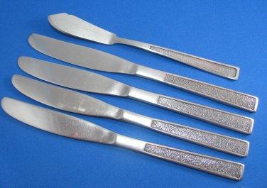 Vintage Japanese Flatware National Finale Knives Butter Knife Retro Mod Flatware Dinner Serving