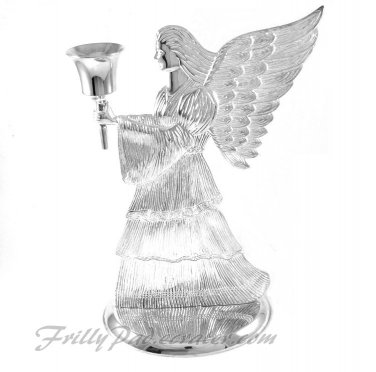 Silverplated Angel Candle Holder International Silver 1994 Holiday Christmas Decor Mantle Table