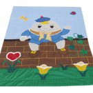 Humpty Dumpty Crib Quilt Vintage Baby Blanket Handmade Throw Patchwork Wall Hanging Nursery 57 x 38