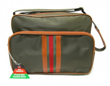 Mr Roberts Vintage Luggage Carry On Travel Bag Olive Green Army Tan 1979 NWT