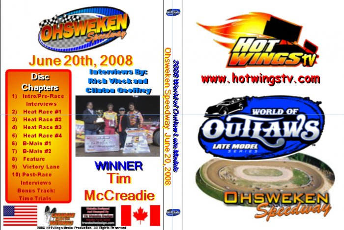 DVD - 2008 World of Outlaws Late Models from June 20th