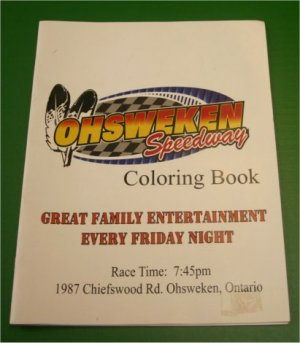 Ohsweken Speedway Coloring book