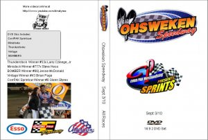 Ohsweken Speedway Sept 3/10 DVD