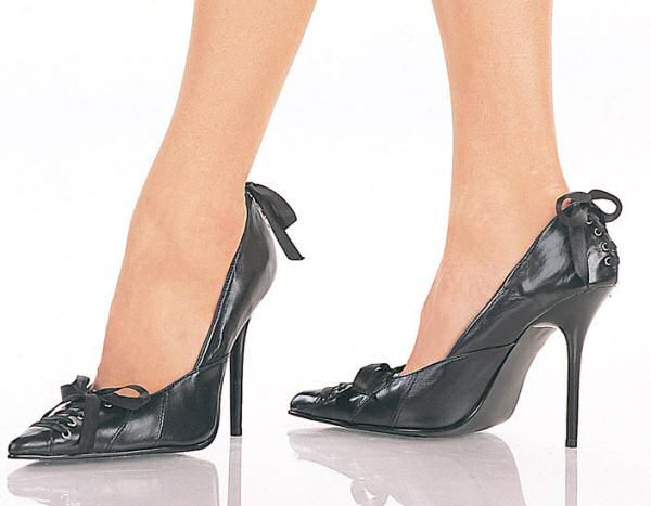 Milan - Women's Classic Pumps with Front and Back Corset Details