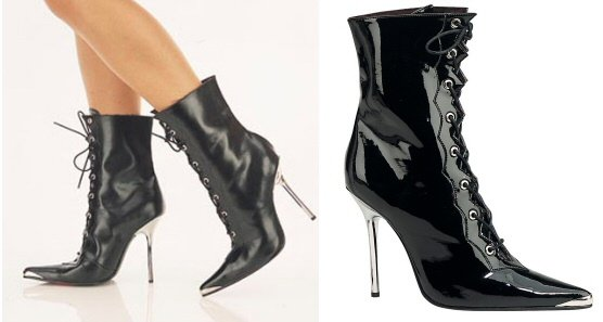 Heat - Women's Lace Up Ankle Boot with Metal Toe & Heel