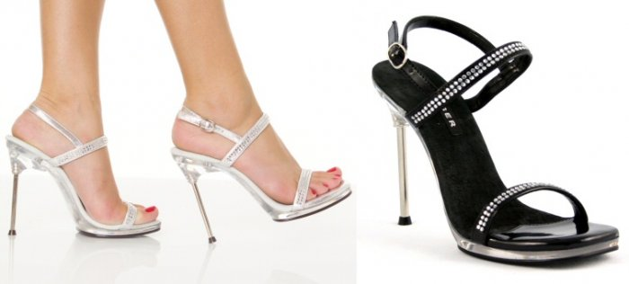 """Chic"" - Women's Stiletto Heels/Shoes with Rhinestone Straps"