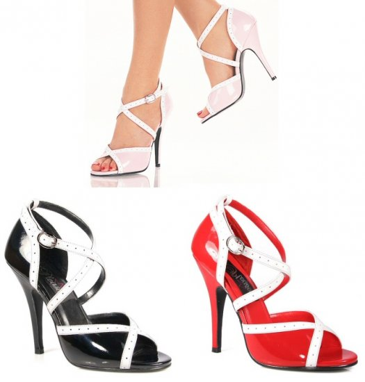 """Seduce"" - Women's Open Double Crisscross Sandals/Shoes"
