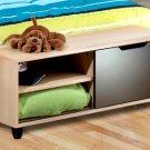 Footboard Bench Storage Unit - TV Stand - Media Cabinet Rack - Shoe Storage - Kids or Adult