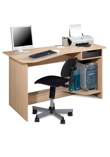 Student Office Bedroom Computer Desk w/ Drawer