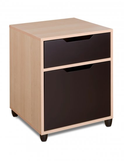 Office Mobile Filing Cabinet Storage Bin with Drawers - Letter or Legal