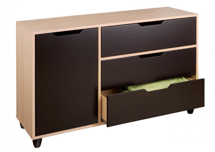 Three (3) Drawer + Extra Door Bedroom Dresser Chest Kids or Adult Clothes Organizer