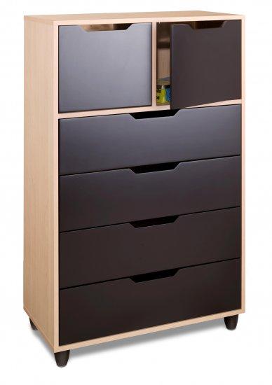 Four (4) Drawer + 2 Door Bedroom Dresser Toy - Wardrobe Storage