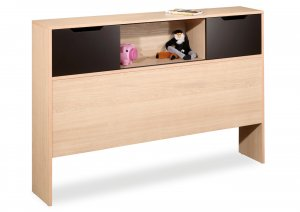 "39"" Twin Size Storage Bookcase Organizer Headboard"