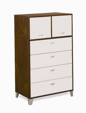 Kids or Adult Bedroom Clothes 4 Drawer Lingerie Dresser Chest Storage Unit