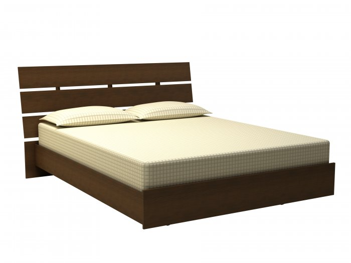 "54"" Full - Double Size Platform Bed and Headboard"