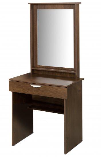 Bedroom or Bathroom Hair and Makeup Vanity with Large Mirror