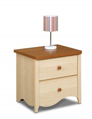 Two (2) Drawer Bedroom Night Stand Storage Table