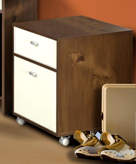 Mobile Office File Cabinet Chest - Paper Filing Storage Unit