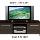 Espresso Plasma / LCD / DLP TV Base Storage Stand Entertainment Center
