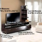 Plasma / LCD / DLP TV Stand Base Storage Espresso Entertainment Center