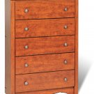 Cherry Bedroom 5-Drawer Clothes Dresser Chest of Drawers