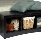 Black Queen Double/Full Hallway Bed Bench Storage Room Organizer