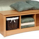 Maple Queen Double/Full Hallway Bed Bench Storage Room Organizer