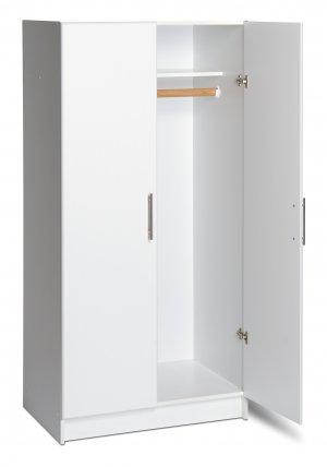 "White  32"" Bedroom/Kitchen/Laundry/Office Storage Wardrobe Cabinet"