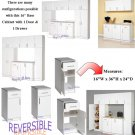 "White 16"" Laundry Kitchen Closet Garage Bathroom Bedroom Storage Cabinet w/ Drawer"