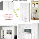 "WHITE 32"" WALL STORAGE CABINET MODULAR BATH KITCHEN LAUNDRY"
