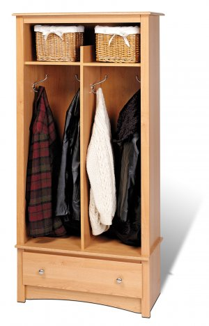 Maple Doorway / Entranceway / Hallway Coat & Shoe Rack Storage Organizer - Multiple Uses!