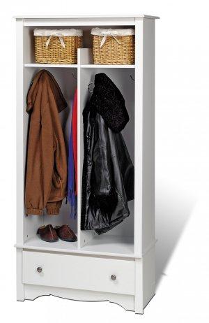 White Doorway / Entranceway / Hallway Coat & Shoe Rack Storage Organizer - Multiple Uses!