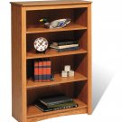 "Oak 48"" Bookcase Book Shelf CD DVD Blu-Ray Storage Organizer - 2 Shelf"