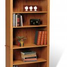 "Oak 77"" Bookcase Book Shelf CD DVD Blu-Ray Storage Organizer - 2 Shelf"