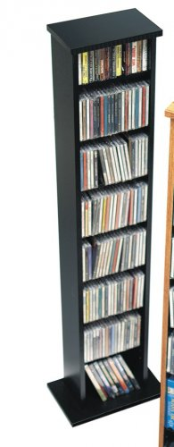 BLACK CD / DVD / BLU-RAY Movie / Video Game Storage Tower Organizer - Small Collection