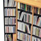 BLACK CD / DVD / BLU-RAY Movie / Video Game Storage Tower Organizer