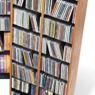 OAK CD / DVD / BLU-RAY Movie / Video Game Storage Tower Organizer