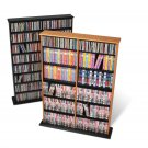 OAK Wall CD / DVD / BLU-RAY Movie / Video Game Storage Tower Organizer