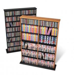 OAK Wall CD / DVD / BLU-RAY Movie / Video Game Storage Tower Organizer