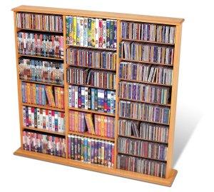 MAPLE Triple Wall CD / DVD / BLU-RAY Movie / Video Game Storage Tower Organizer