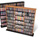 OAK Triple Wall CD / DVD / BLU-RAY Movie / Video Game Storage Tower Organizer