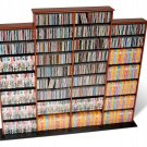 CHERRY Quad Wall CD / DVD / BLU-RAY Movie / Video Game Storage Tower Organizer