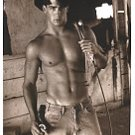 hunky cowboy picture magnet LOOK save a horse