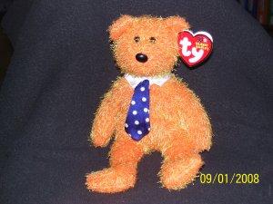 """TY Beanie PAPPA Orange 2003 Father's Day Bear 8"""""""