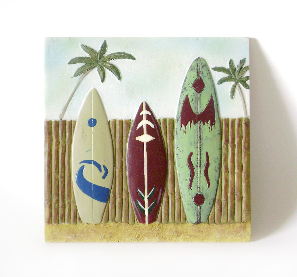 Very Cool Looking Surfboard Wall Plaque Great Shape