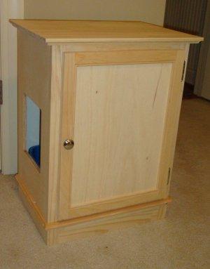 Hidden Cat Litter Box / Cabinet w/Shelf / Furniture -- unpainted
